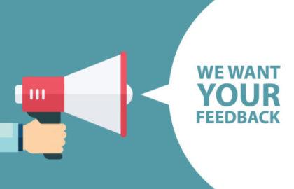 Nous souhaitons votre feedback
