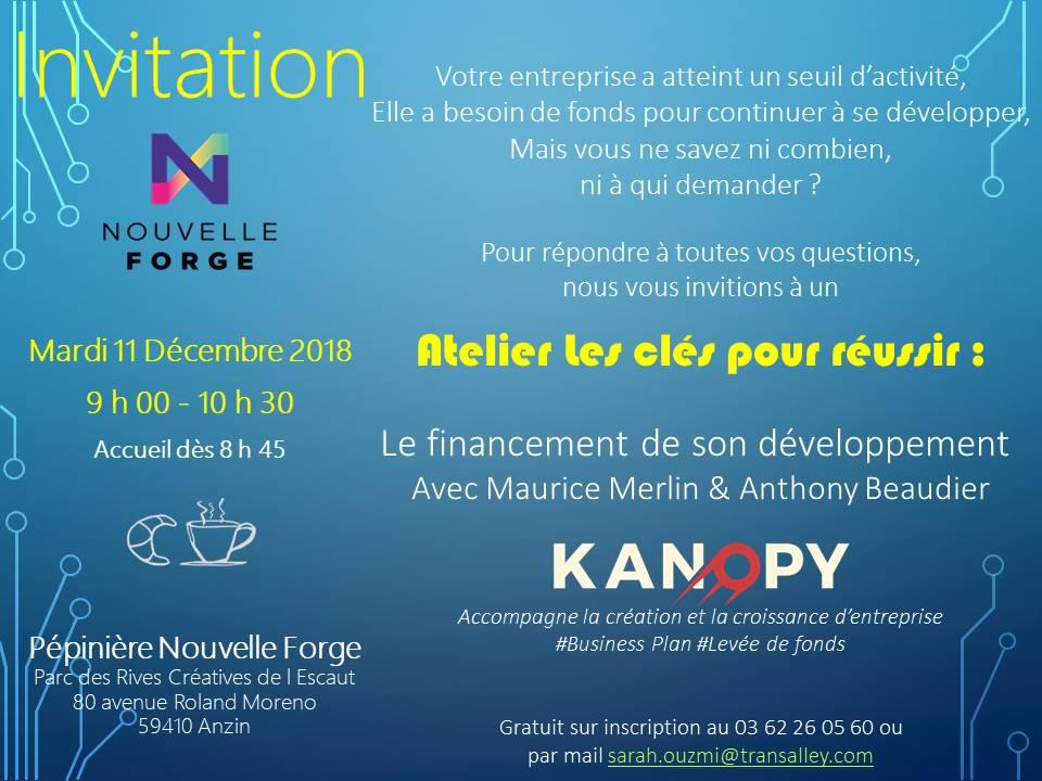 Matinale financer la croissance le 11/12/18 à la Nouvelle Forge